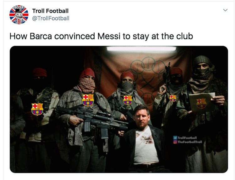 Messi bertahan