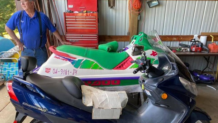 Motor ini menggunakan boydy jetski