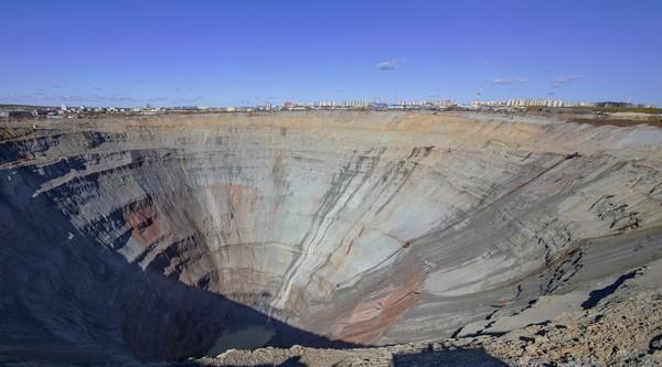 Mir Mine kini dikelola oleh perusahaan Rusia, Alrosa yang memproduksi seperempat produksi berlian dunia. (Getty Images/iStockphoto)