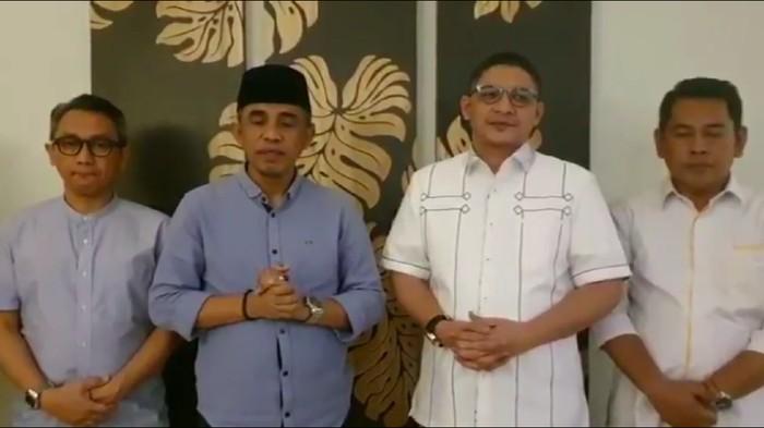 Tangkapan layar video pernyataan Anwar Hafid dan Pasha Ungu soal gagal ikut Pilkada Sulteng 2020.