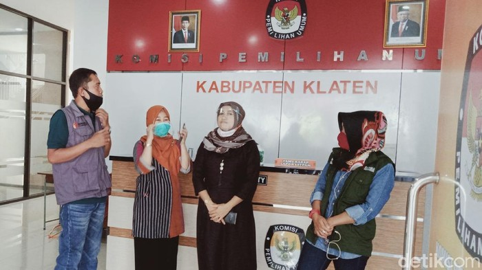 Tim Bawaslu Jateng di kantor KPU Kabupaten Klaten, Sabtu (5/9/2020).