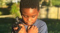 Mengharukan, Potret Anak-anak Beri Penghormatan ke Black Panther