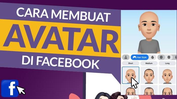 Infografis Cara Membuat Avatar di Facebook
