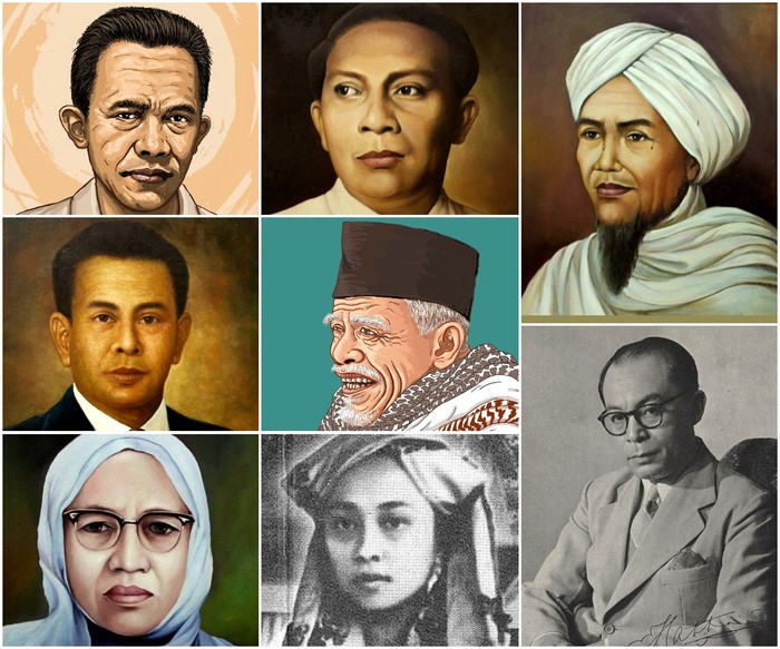Para pahlawan nasional dari Sumatera Barat. (Repro detikcom)