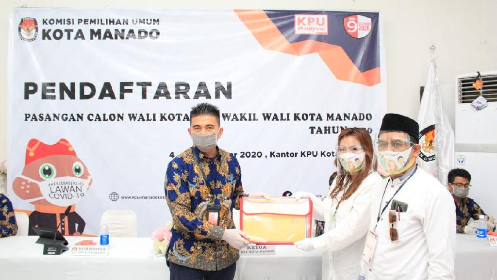 Disambut Selawat-Tari Kabasaran, SSK-SS Resmi Daftar ke KPU Manado