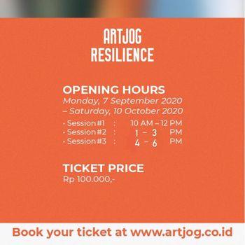 Poster pemberitahuan ARTJOG terbuka bagi masyarakat umum.