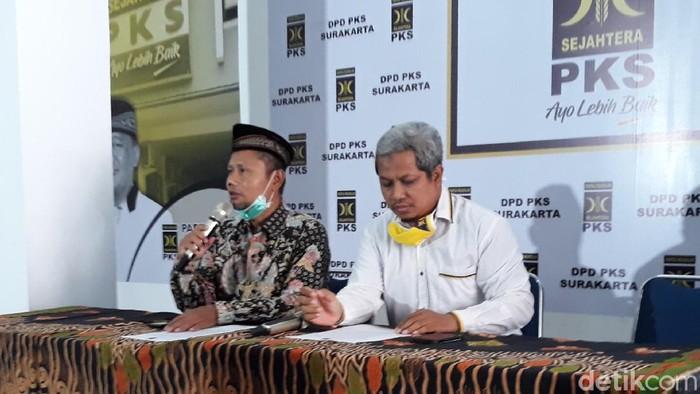Asih Sunyoto dan Abdul Ghofar, pimpinan PKS Solo