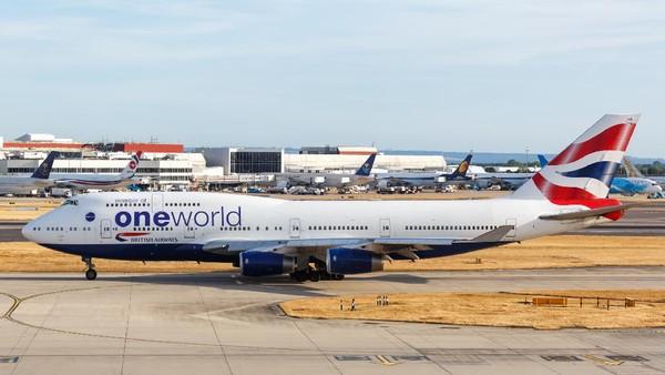 Pesawat Boeing 747 pertama kali dipakai maskapai British Airways pada tahun 1994. Pesawat ini terbang terakhir kalinya pada bulan April lalu dari Lagos, Nigeria ke Inggris untuk memulangkan WN Inggris yang terjebak lockdown di sana. (Getty Images/Boarding1Now)