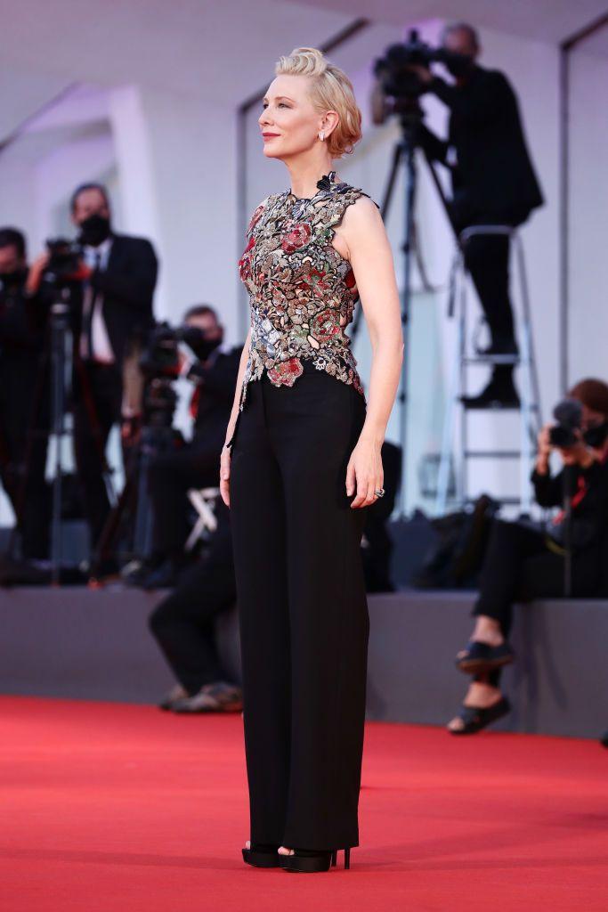 VENICE, ITALY - SEPTEMBER 03: Venezia77 Jury President Cate Blanchett walks the red carpet ahead of the movie