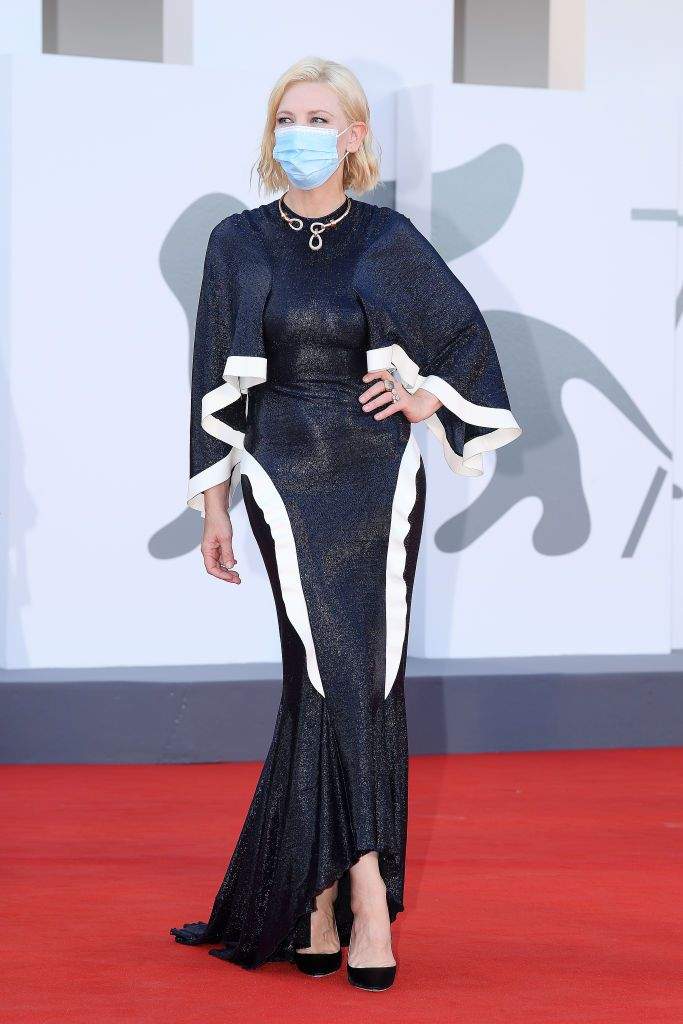 VENICE, ITALY - SEPTEMBER 02: Venezia77 Jury President Cate Blanchett walks the red carpet ahead of the Opening Ceremony and the