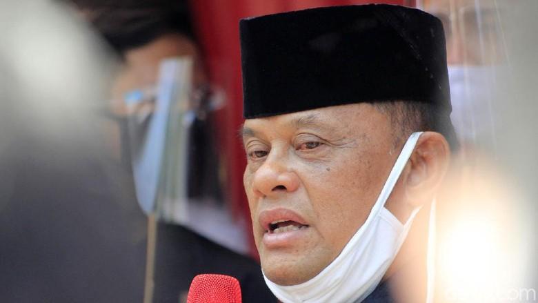 Din Syamsuddin dan Gatot Nurmantyo menghadiri deklarasi Koalisi Aksi Menyelamatkan Indonesia (KAMI) Jawa Barat, Senin (7/9/2020). Deklarasi dilaksanakan di sebuah rumah, Kota Bandung, Senin (7/9/2020).