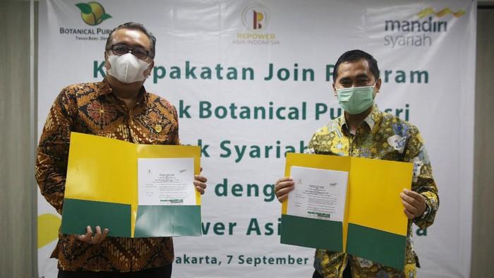 Bank Syariah Mandiri bekerja sama dengan PT Repower Asia Indonesia Tbk. terkait pembiayaan kepemilikan rumah dengan prinsip syariah (Griya Berkah).