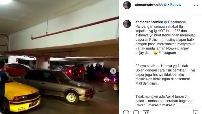 Viral Mobil Bising Digeber-geber di Basement Mal Bikin Emosi