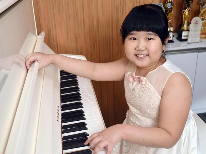 Abigail Angelica Santoso, pianis cilik yang ingin mengikuti jejak Joey Alexander.
