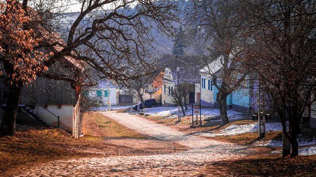 Desa Viscri di Transylvania
