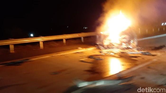 Kecelakaan beruntun di jalan tol Kartasura-Boyolali KM 485, Boyolali, Selasa (8/9/2020).
