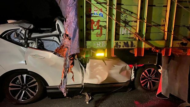 Kecelakaan beruntun terjadi di jalan tol Kartasura-Boyolali KM 485, Boyolali, Selasa (8/9/2020).