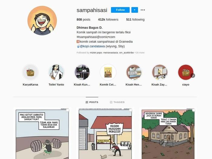 Komik Strip Sampahisasi di Instagram