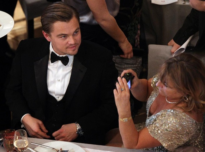 BERLIN - FEBRUARY 15:  Actor Leonardo DiCaprio with his mother Irmelin attends the Annual Cinema For Peace Gala during day five of the 60th Berlin International Film Festival at the Konzerthaus am Gendarmenmarkt on February 15, 2010 in Berlin, Germany.  (Photo by Andreas Rentz/Getty Images)