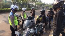 Tak Pakai Pelat Nomor, 2 Moge Berkonvoi di Tangerang Ditilang Polisi