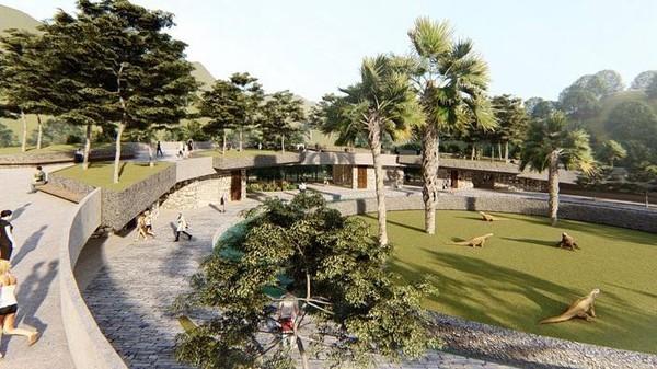 Dalam desain terbaru terkait pembangunan di Pulau Rinca, turut hadir tempat khusus untuk fasilitas riset komodo termasuk pusat informasi wisatawan.