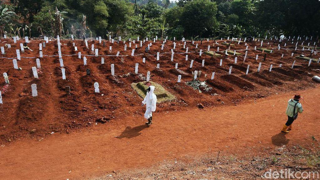 Lahan untuk Jenazah COVID Penuh, TPU Pondok Ranggon Hanya Layani Makam Tumpang