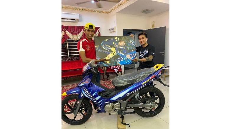 Bebek jadul Yamaha edisi Valentino Rossi terjual di angka Rp 302 juta