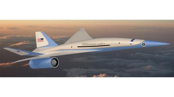 Kemungkinan pesawat prototipe Air Force One supersonik akan mengudara di awal 2025. Start-up dari California, Exosonic sedang mengerjakan twinjet yang bisa melaju di Mach 1.8. Mesin supersonik rendah ledakan ini menarik perhatian Presidential and Executive Airlift Directorate (PE), yang mengurusi Air Force One.
