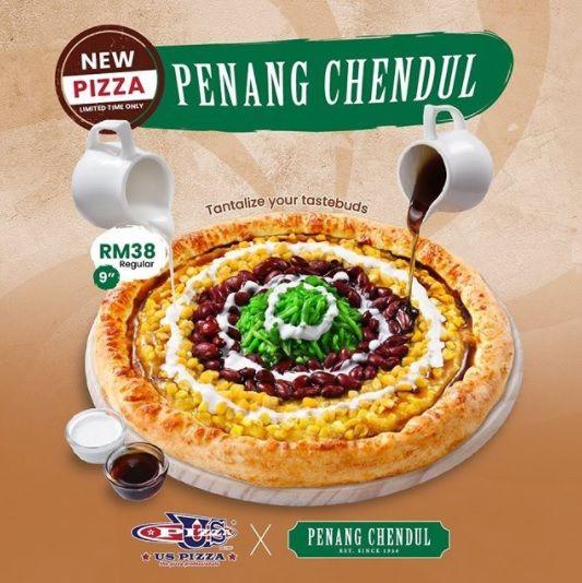 Pizza Topping Cendol di Malaysia