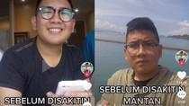 Viral Perubahan Tubuh Pria Sebelum dan Setelah Disakiti Mantan, Auto Pangling