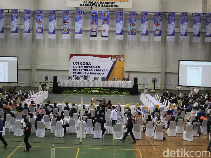 Uji coba SIREKAP di Kabupaten Bandung.