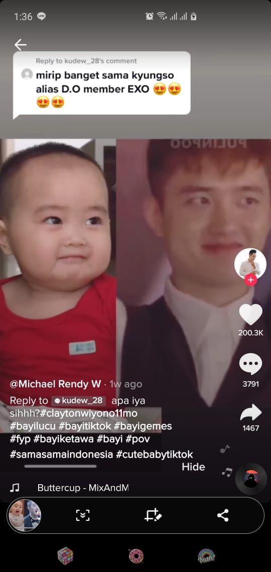 Clay Wiyono, Bayi asal Semarang yang Mirip D.O EXO