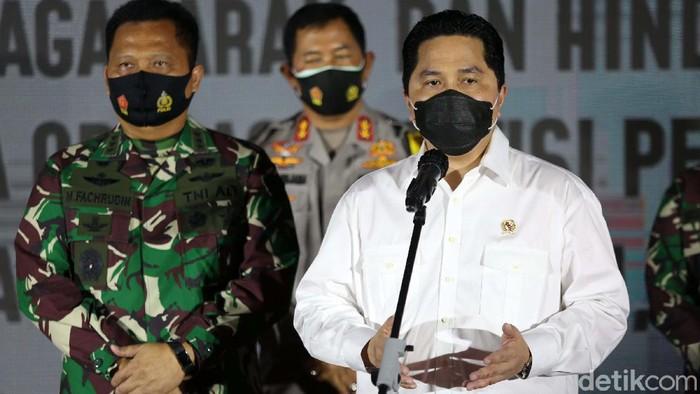 Polda Metro Jaya gelar kampanye protokol kesehatan dalam rangka menyambut Pilkada 2020. Acara ini dihadiri Menteri BUMN Erick Thohir hingga Gubernur DKI Jakarta.