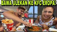 Ngakak! Begini Kelakuan Bule Barcelona Saat Bawa Cobek ke KFC