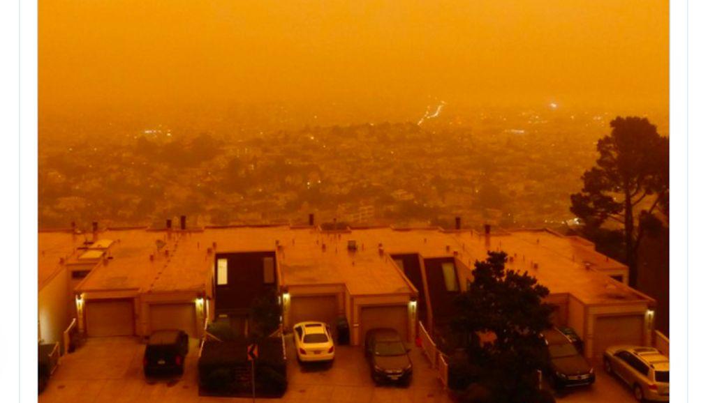 Langit Oranye Mengerikan di California, Mirip di Mars