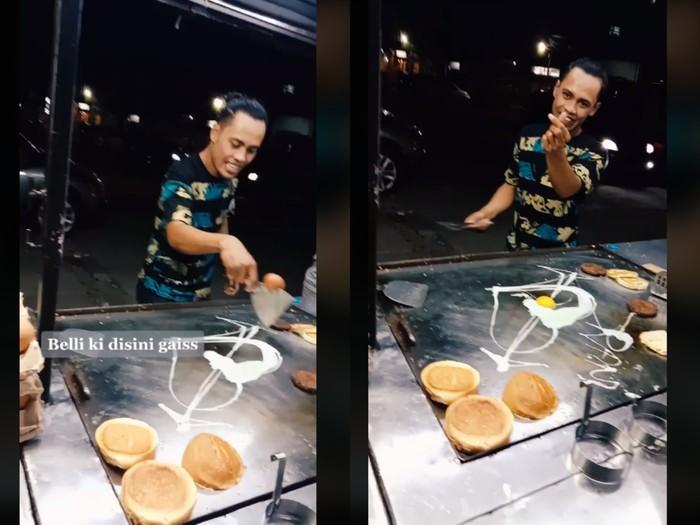 Penjual burger atraksi