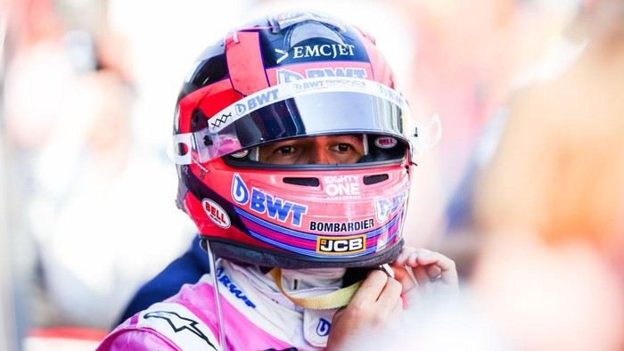 MONZA, ITALY - SEPTEMBER 06: Sergio Perez of Mexico and Racing Point  during the F1 Grand Prix of Italy at Autodromo di Monza on September 06, 2020 in Monza, Italy. (Photo by Peter Fox/Getty Images)