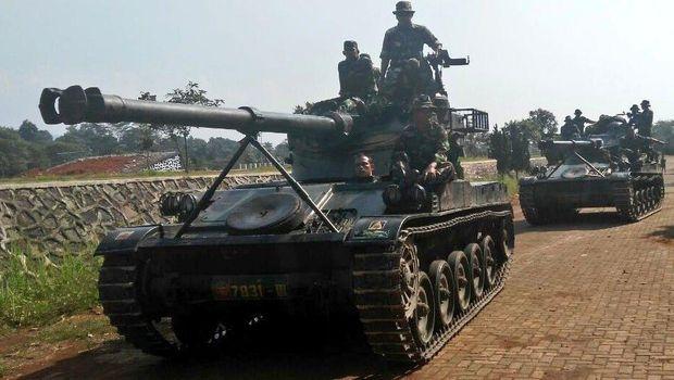 Tank AMX 13 dari Yonkav 4 Kodam III Siliwangi