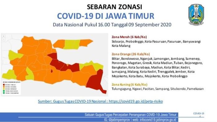 6 Daerah Di Jawa Timur Masih Zona Merah Covid 19
