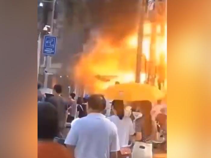 Detik-detik Ledakan Gas di Hotel China