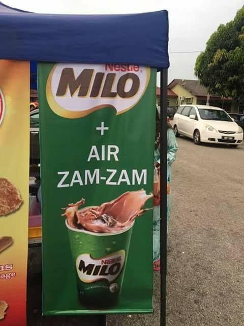 Es Cokelat Campur Air Zam-zam