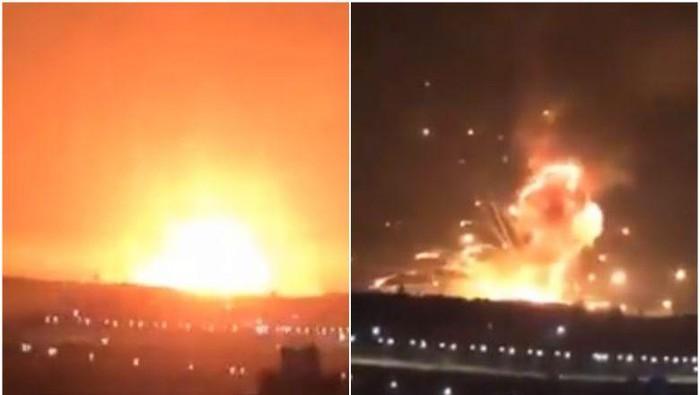 Foto ledakan dahsyat di Yordania yang tersebar di media sosial (Twitter)