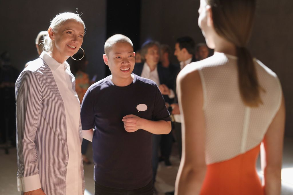 BERLIN, GERMANY - JULY 06:  Christiane Arp and Jason Wu seen at the Hugo Boss presentation during 'Der Berliner Mode Salon' Spring/Summer 2018 at St. Agnes Church on July 6, 2017 in Berlin, Germany.  (Photo by Andreas Rentz/Getty Images for Hugo Boss)