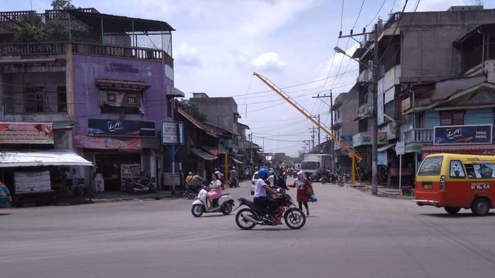 Kondisi jalan yang sempat diblokir warga di Medan (Datuk Haris Molana-detikcom)
