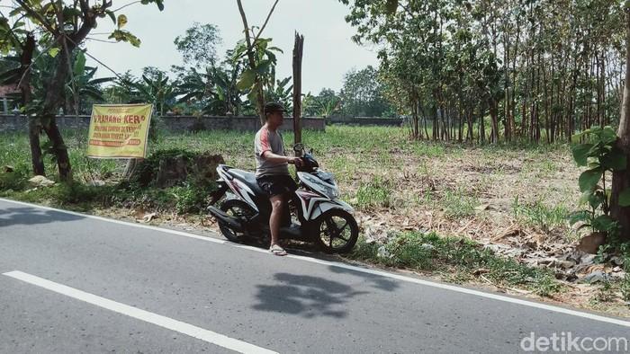 Lokasi penganiayaan nenek di Kecamatan Klaten Utara, Klaten, Jumat (11/9/2020).