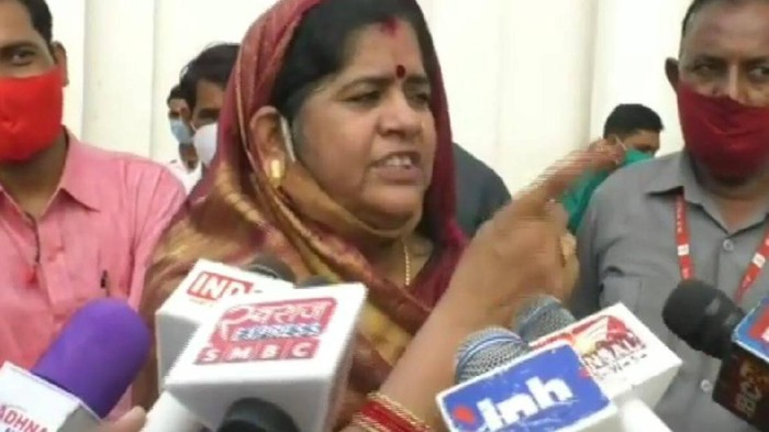 Menteri negara bagian Madhya Pradesh, Imarti Devi (Twitter)