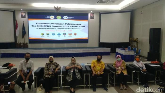Persiapan Udinus Semarang jadi lokasi SKB CPNS tahun formasi 2019 untuk 7 daerah di Jateng, Jumat (11/9/2020).