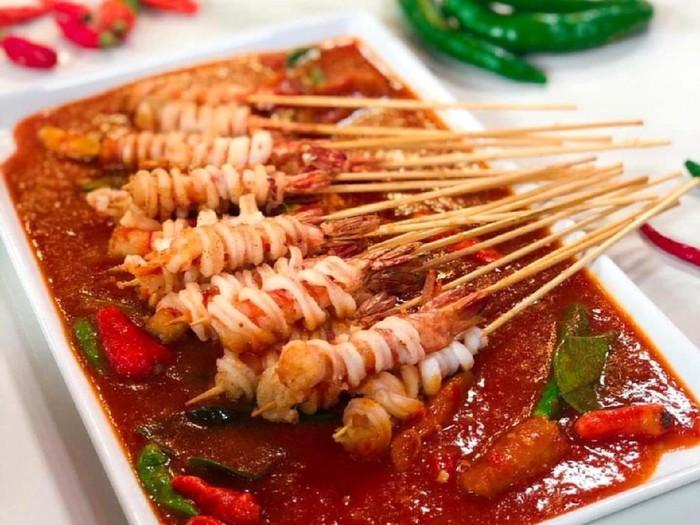 Sate Seafood Saus Padang