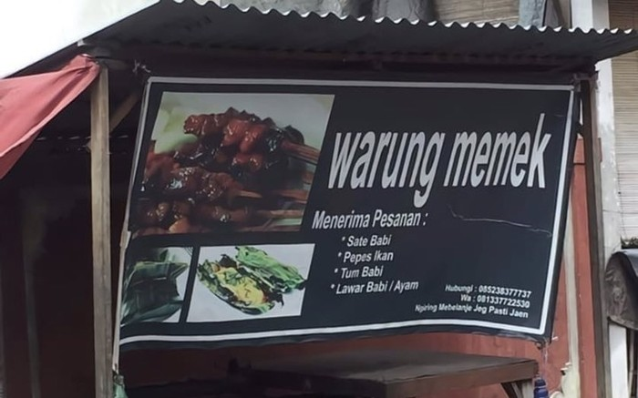 Viral Foto Warung Makan Memek yang Bikin Netizen Heboh
