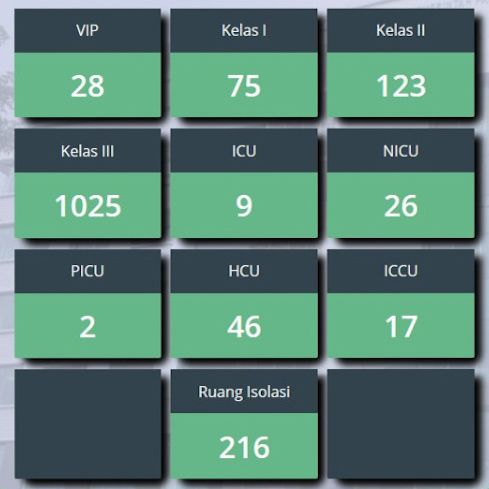 Data okupansi RSUD di DKI Jakarta per 12 September